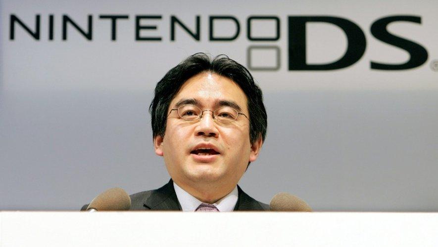 Satoru Iwata, président du Japonais Nintendo, le 15 février 2006 à Tokyo