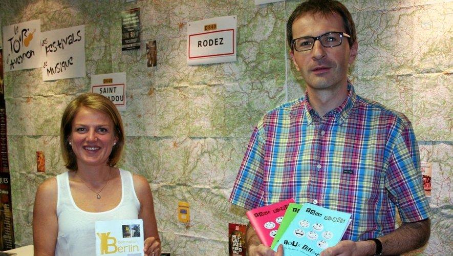 Sarah Vidal, adjointe à la Culture, et Jérôme Palis, directeur de la médiathèque.