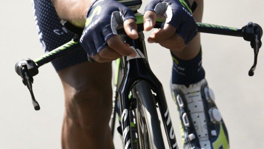 Le Colombien Nairo Quintana lors d'un entraînement la veille du départ du Tour de France, le 3 juillet 2015 à Utrecht (Pays-Bas)