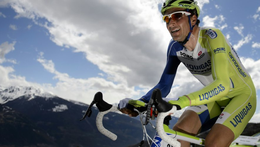 L'Italien Ivan Basso, le 29 avril 2012 lors du Tour de Romandie