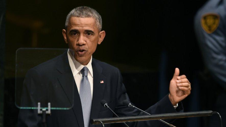 Le président américain Barack Obama à la tribune de l'ONU, le 24 septembre 2014 à New York
