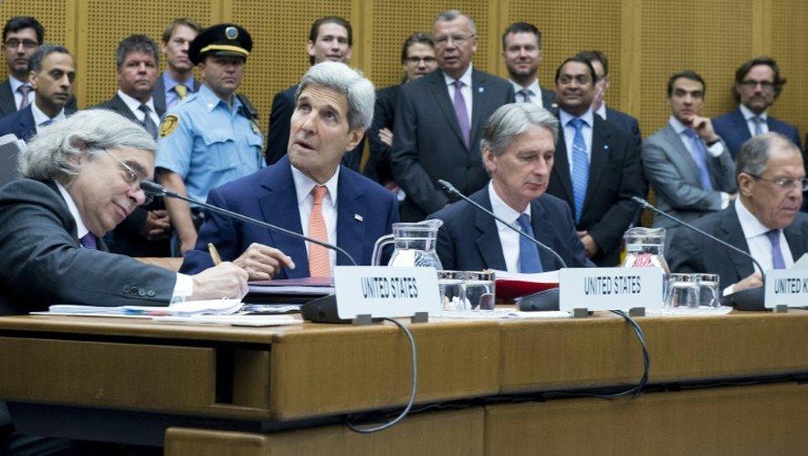 Réunion des diplomates le 14 juillet 2015 à Vienne dans le cadre de l'accord sur le nucléaire iranien