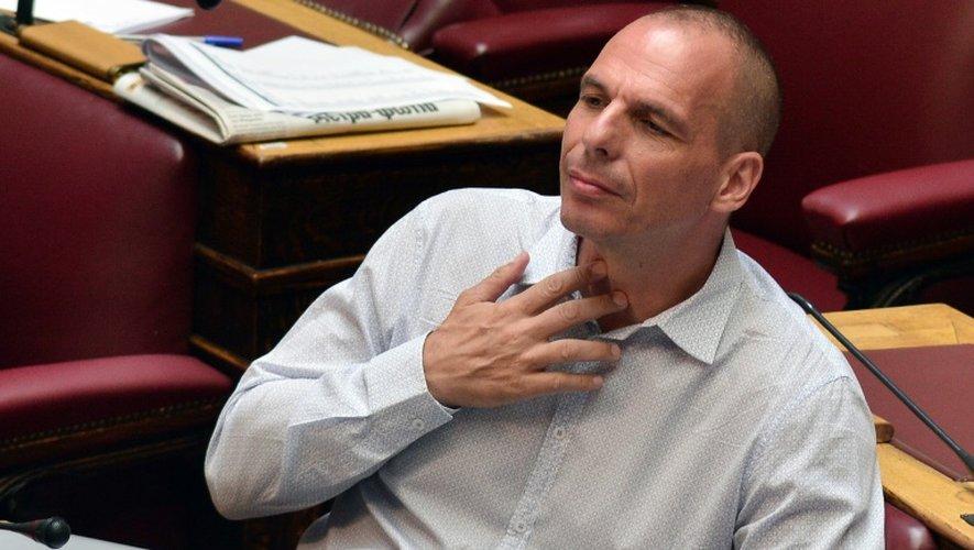 L'ancien ministre grec des Finances Yanis Varoufakis, lors d'une session parlementaire à Athènes le 15 juillet 2015
