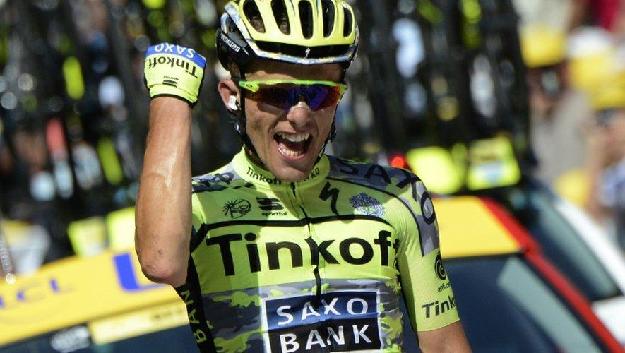 Le Polonais Rafal Majka, vainqueur de la 11e étape à Cauterets dans les Hautes-Pyrénées, le 15 juillet 2015