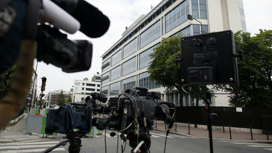 Le siège de la Direction générale de la sécurité intérieure (DGSI), le 1er juin 2014 à Paris