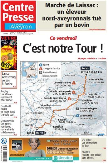 Tour de France : une édition spéciale dans Centre Presse
