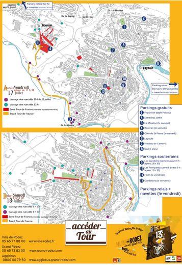 Tour de France : où circuler, où stationner à Rodez ?