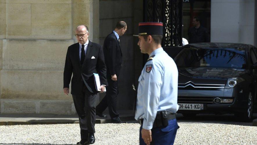 Le ministre de l'Intérieur Bernard Cazeneuve, à l'Elysée le 27 juin 2015
