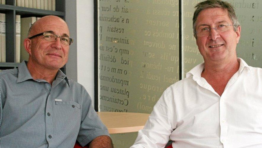 Norbert Fabre et Jean-Luc Delaneau avant la rencontre amicale entre le SRA et le SCD.