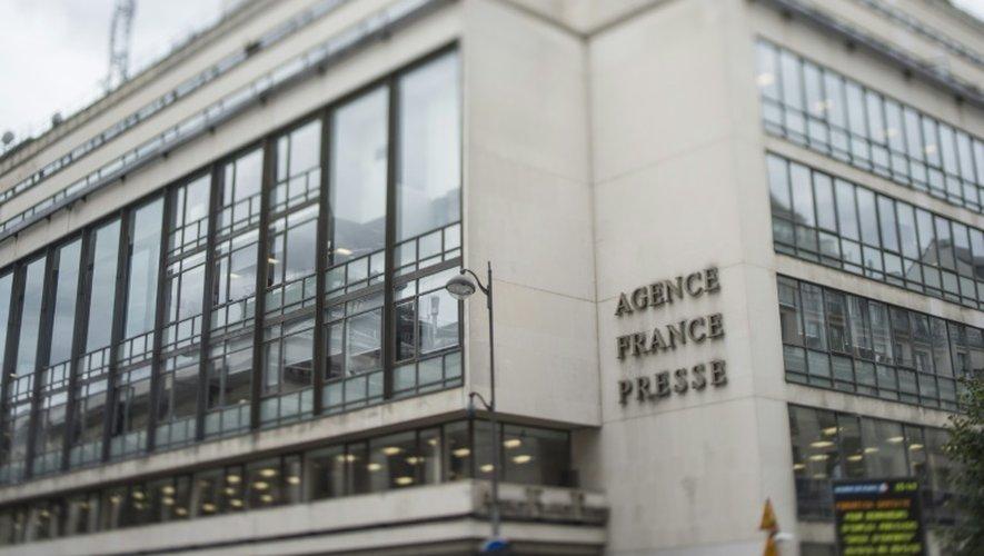 Le siège de l'Agence France Presse place de la Bourse à Paris le 22 août 2014