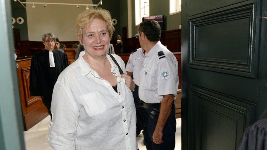La juge de Nanterre Isabelle Prevost-Desprez quitte le tribunal correctionel de Bordeaux après l'annonce sa relaxe, le 2 juillet 2015