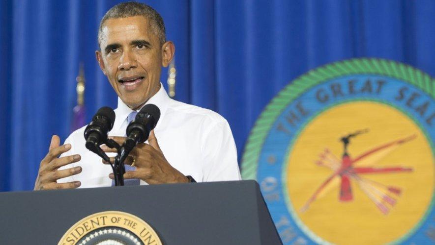 Le président américain Barack Obama à Durant, le 15 juillet 2015
