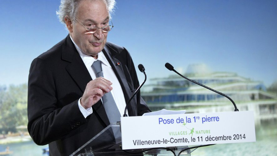 Gérard Brémond, PDG du groupe Pierre & Vacances, le 11 décembre 2014 à Bailly-Romainvilliers, dans l'est de Paris