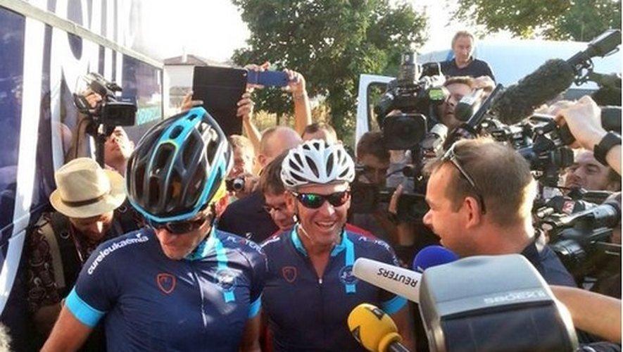 Lance Armstrong est annoncé à Rodez jeudi vers 18h30.