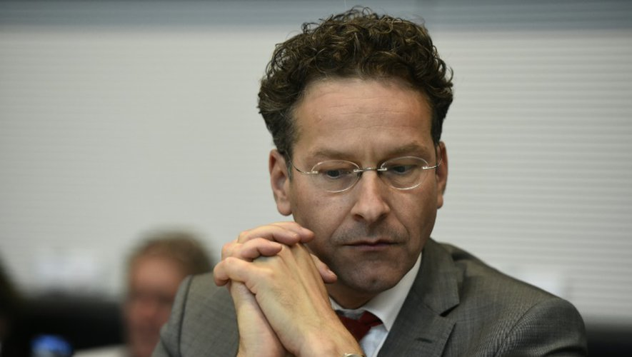 Le président de l'Eurogroupe Jeroen Dijsselbloem lors d'une réunion, le 16 juillet 2015 à Berlin