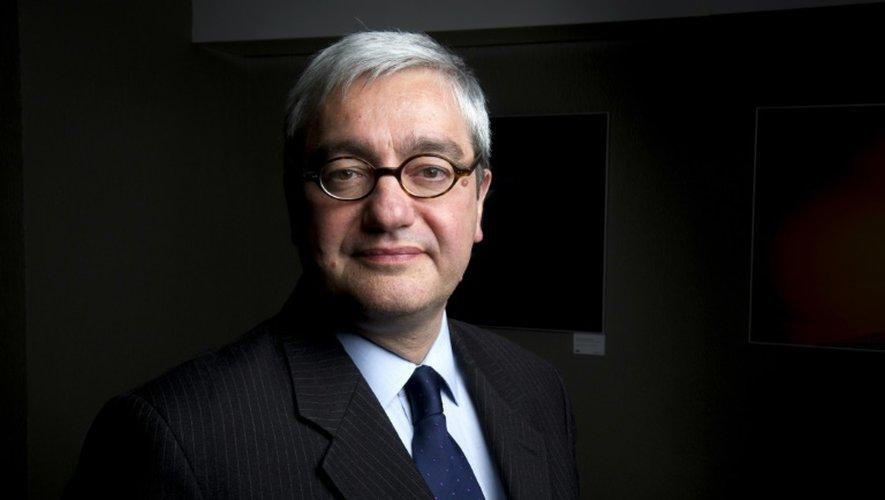 Le PDG de l'AFP Emmanuel Hoog dans les bureaux de l'Agence, le 4 avril 2013 à Paris