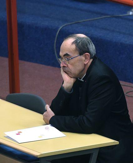 Le cardinal Barbarin à Lourdes le 15 mars 2016