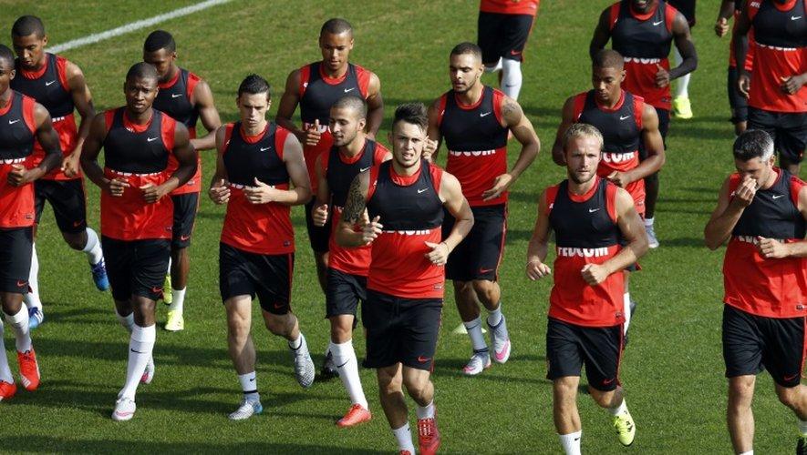Les joueurs de Monaco à l'entraînement à La Turbie le 29 juin 2015