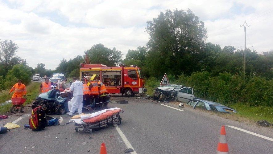 RN88 : deux automobilistes grièvement blessés dans une collision