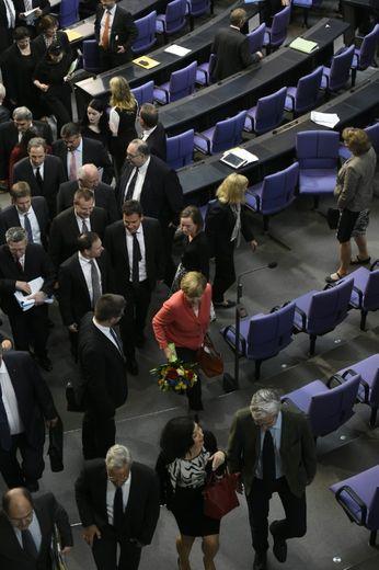 La chancelière allemande Angela Merkel, le 17 juillet 2015 à Berlin