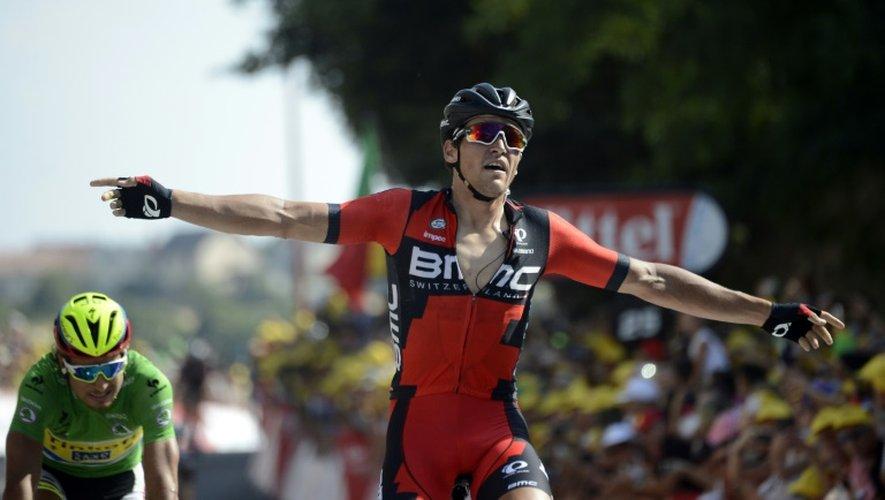 Le Belge Greg Van Avermaet vainqueur de la 13e étape du Tour de France à Rodez, le 17 juillet 2015