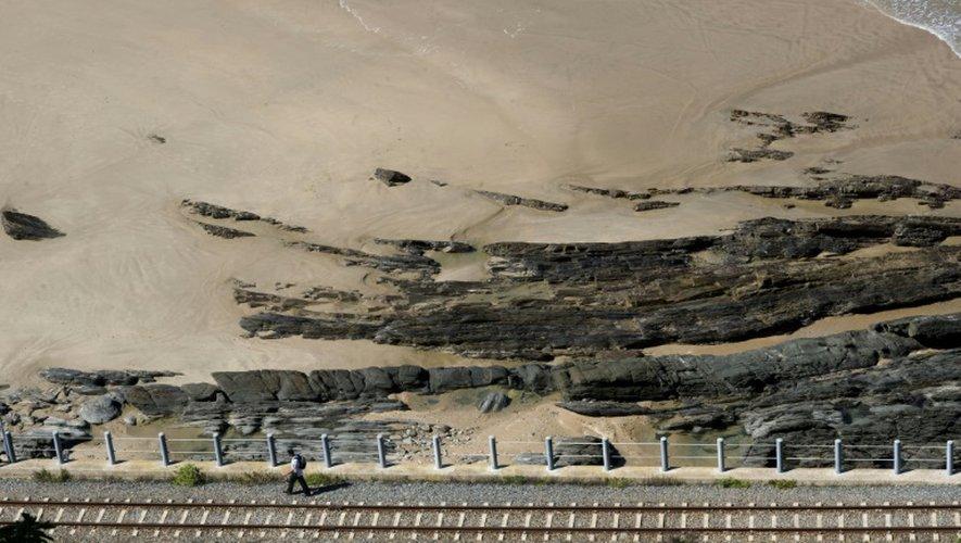 Une voie ferrée à Wilderness, près de Knysna, en Afrique du Sud le 31 août 2011