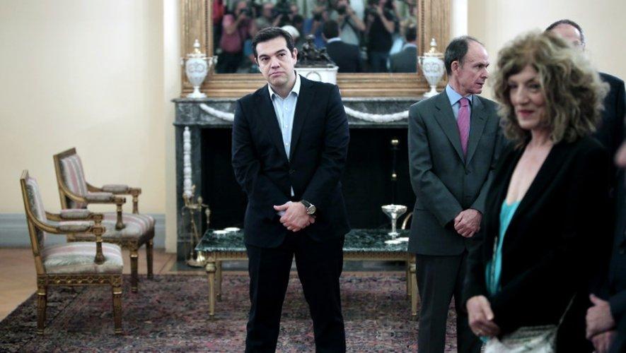 Le Premier ministre Alexis Tsipras lors de la prestation de serment du nouveau gouvernement le 18 juillet 2015