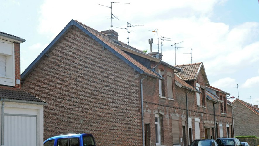 La maison de Ismaël à Beuvrages (nord de la France) le 17 juillet 2015. Le jeune homme est soupçonné d'être impliqué dans un projet terroriste
