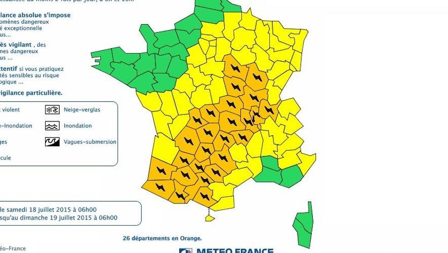 Orages : l'Aveyron en vigilance orange