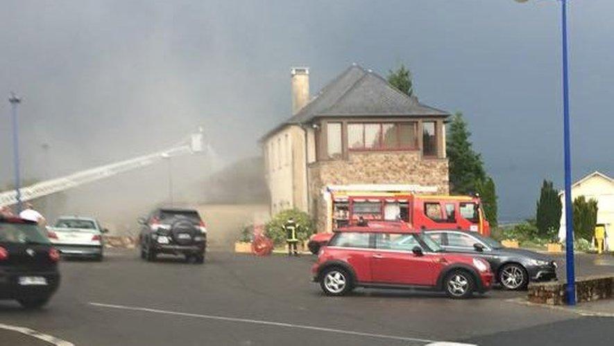 La foudre à l'origine de l'incendie de la mairie de Luc