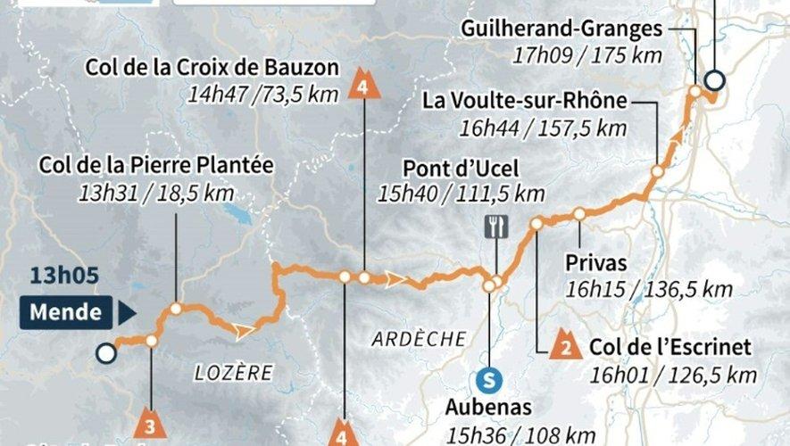 Tour de France 2015 : carte de la 15e étape