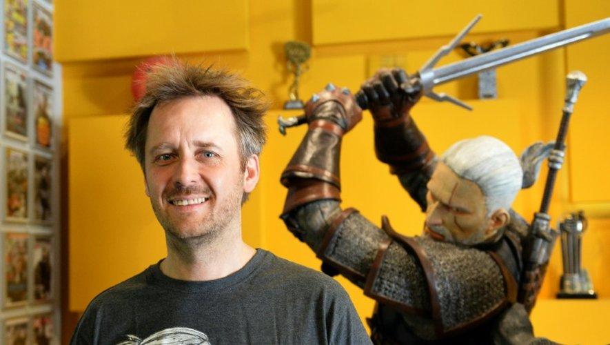 Marcin Iwinski, l'un des fondateurs du studio polonais CD Project Red, qui développe le jeu vidéo le Sorceleur, pose dans ses bureaux à Varsovie, le 2 juin 2015