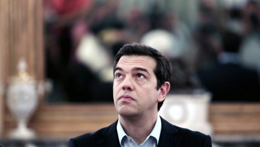 Le Premier ministre grec Alexis Tsipras au palais présidentiel à Athènes, le 18 juillet 2015
