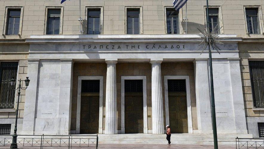 Le siège de la Banque de Grèce à Athènes, le 15 juin 2015