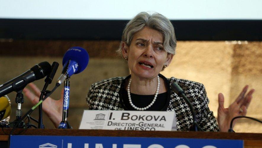 La directrice générale de l'Unesco, Irina Bokova, à Paris, le 27 février 2015