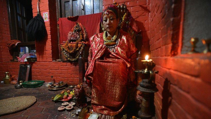 Dhana Kumari Bajracharya, le 21 mai 2015 dans sa maison de Katmandou