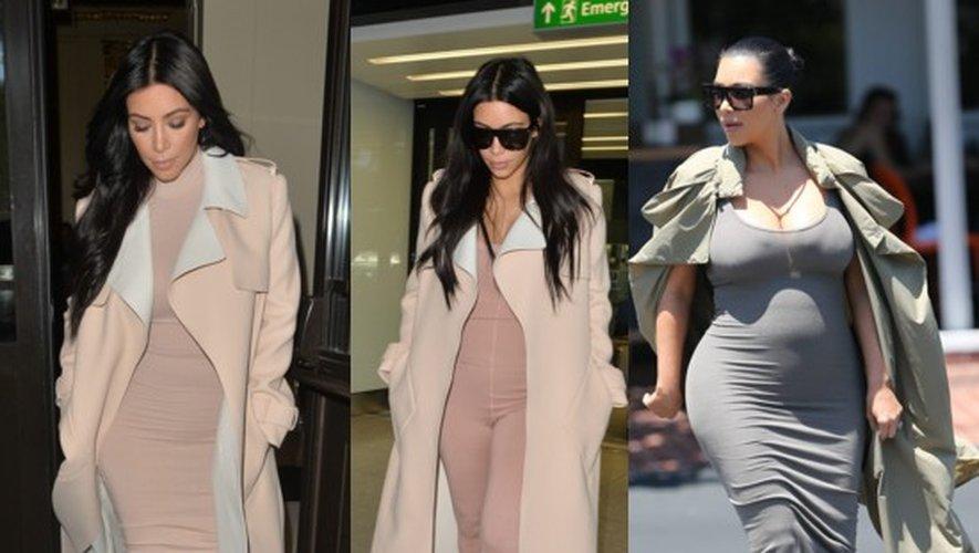 Maternité tendance : Kim Kardashian enceinte en mode naturelle