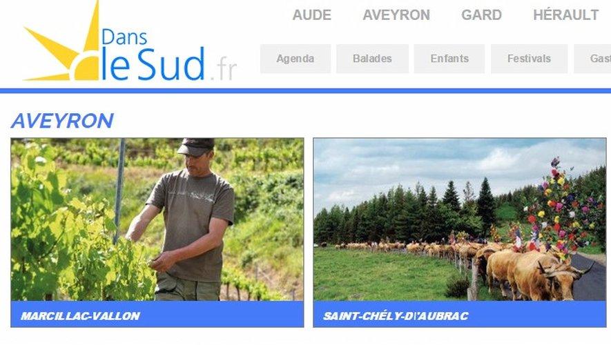 """Danslesud.fr : le nouveau site """"Tourisme"""" du département"""