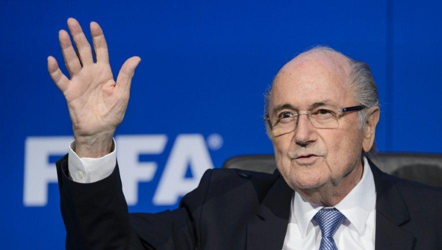 Le président de la Fifa Joseph Blatter en conférence de presse, le 20 juillet 2015 à Zurich
