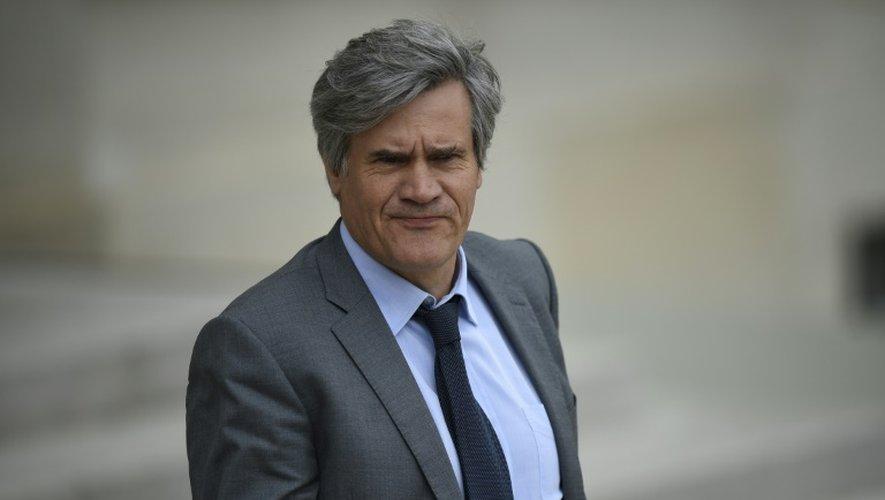 Le ministre de l'Agriculture Stéphane Le Foll dans la cour de l'Elysée le 8 juillet 2015 à la sortie du Conseil des ministres à Paris