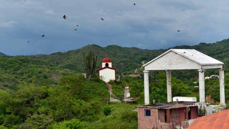 """Le mausolée d'un des barons de la drogue """"Don Neto"""" dans l'Etat du Sinaloa (Mexique) également région natale de """"El Chapo"""", le 17 juillet 2015"""