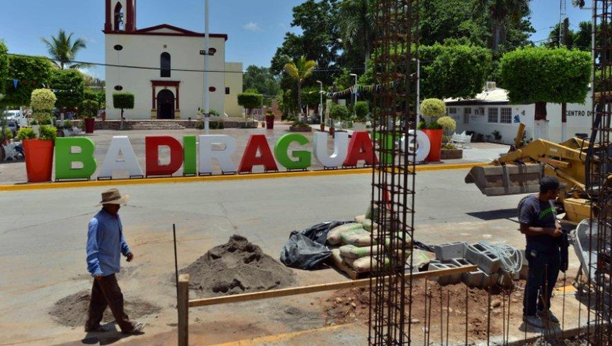 Vue de la place centrale de Badiraguato, le 17 juillet 2015, dans l'Etat de Sinaloa (Mexique) région natale de El Chapo
