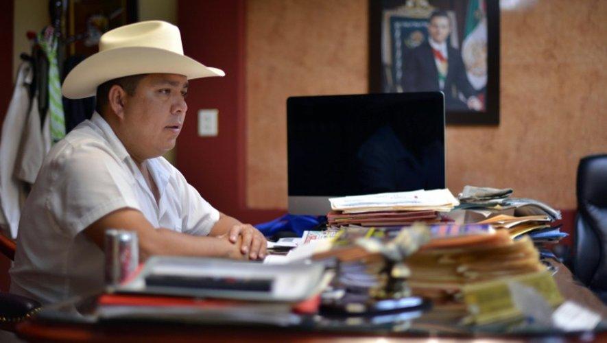 Mario Valenzuela,  maire de Badiraguato (Etat de Sinaloa), lors d'une rencontre avec l'AFP le 17 juillet 2015
