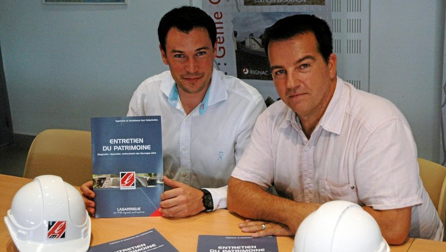 L'ingénieur travaux principal Fabrice Breton (à gauche) a été présenté tout dernièrement par Pascal Carlos, directeur général de Lagarrigue BTP.