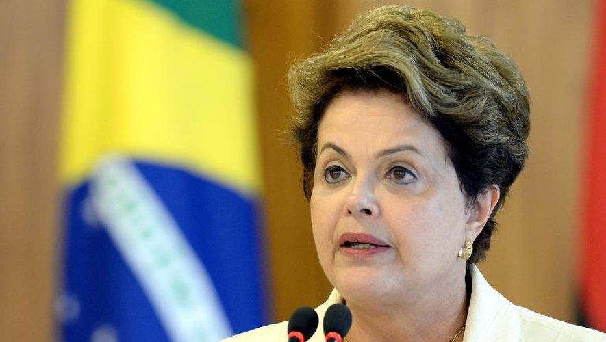 La présidente du Brésil Dilma Rousseff à Brasilia le 16 juin 2014