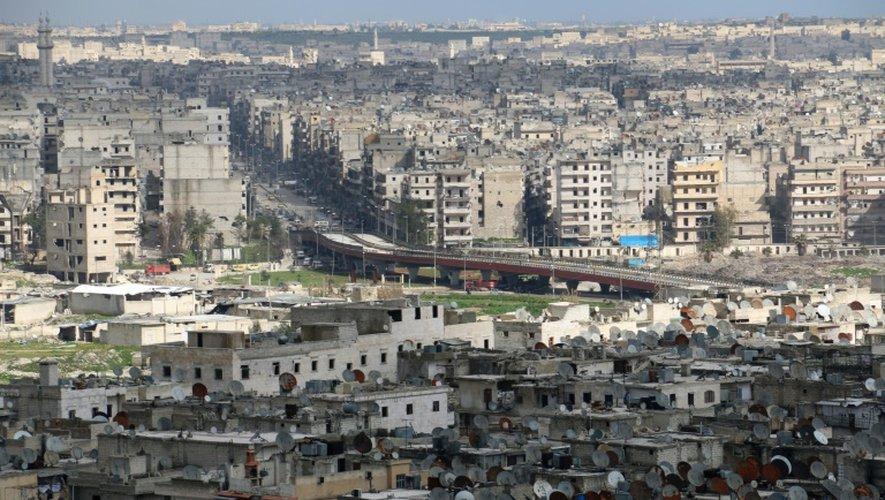 Vue générale d'Alep, dans le nord de la Syrie, le 3 mars 2015
