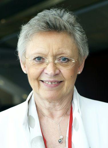 La Nobel française de médecine Françoise Barré-Sinoussi, de l'Institut Pasteur de Paris, lors d'un symposium sur le sida le 18 juillet 2015 à Vancouver, sur la côte pacifique du Canada