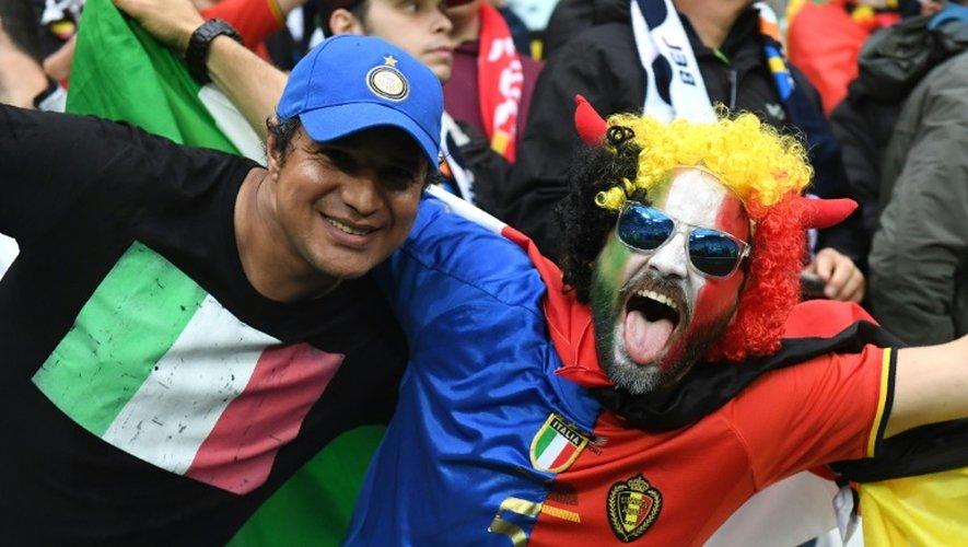 Des supporters italien et belge, le 13 juin au Parc OL de Lyon