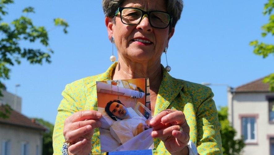 La mère de Vincent Lambert, Viviane Lambert, qui s'oppose à un éventuel arrêt de soins de son fils, le 4 juin 2015 à Reims