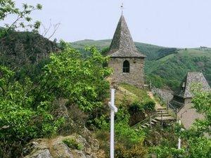 La Vinzelle - La vue depuis l'éperon rocheux